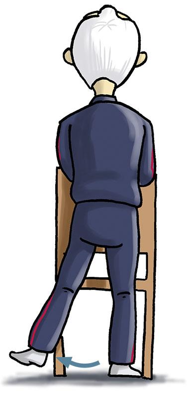 separación cadera silla