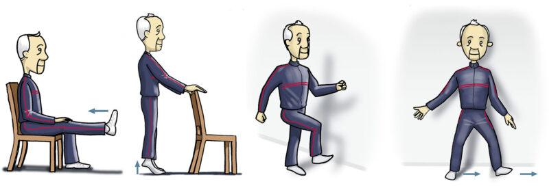 ejercicios fisioterapia mayores