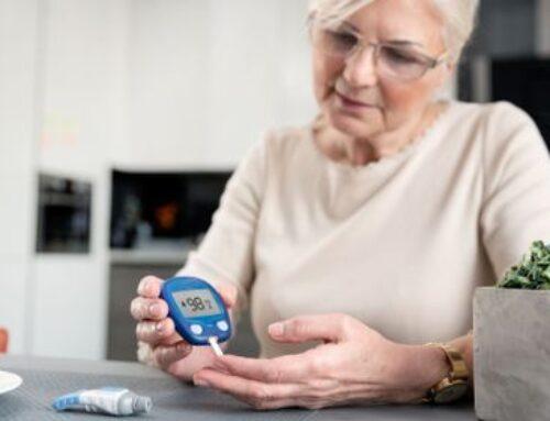 Persona mayor diabética y ejercicio físico